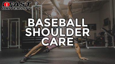 Baseball Shoulder Care