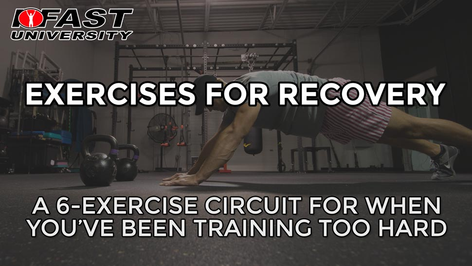 Exercises for Recovery: A 6-exercise circuit for when you've been training too hard
