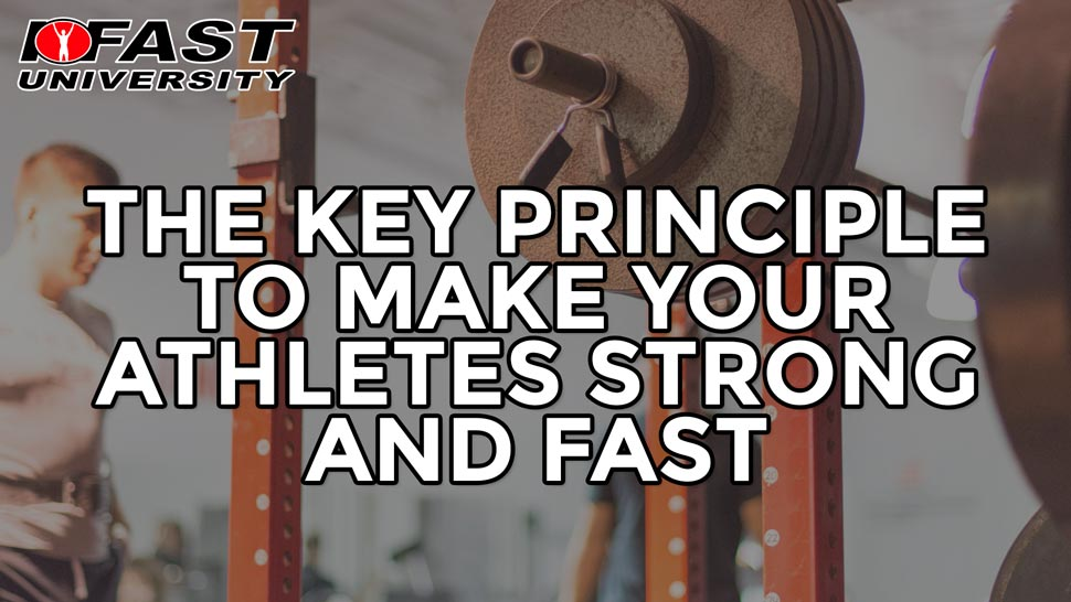 Training Intensity: The key principle to make your athletes strong and fast