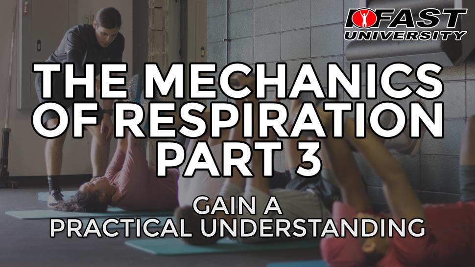 The Mechanics of Respiration, Part 3: Gain a practical understanding