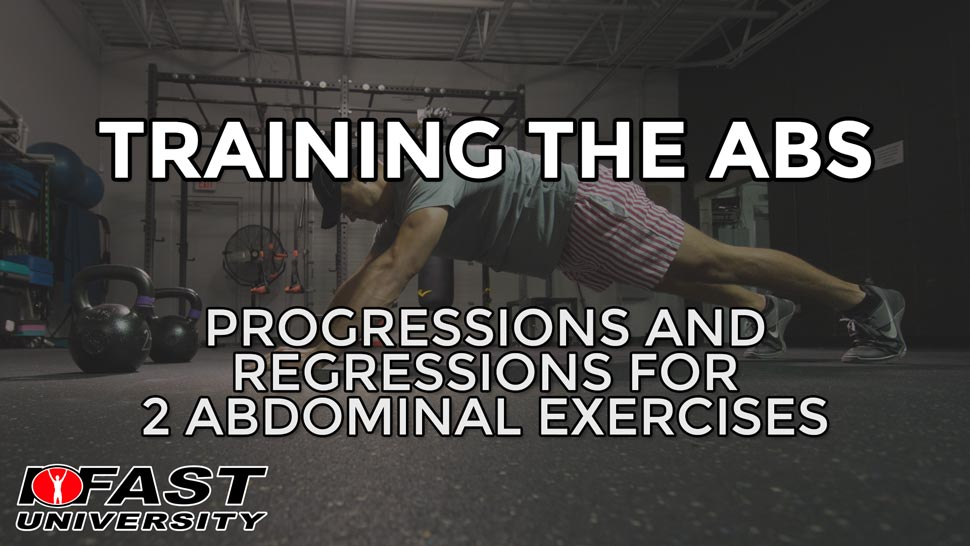 Training the Abs: Progressions and regressions for 2 abdominal exercises