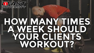 Training Frequency: How many times a week should your client workout?