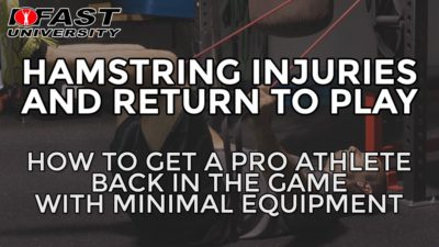 Hamstring Injuries and Return to Play: How to get a pro athlete back in the game with minimal equipment