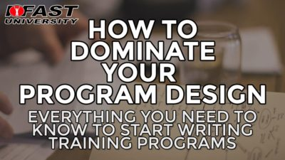 Everything you need to know to start writing training programs