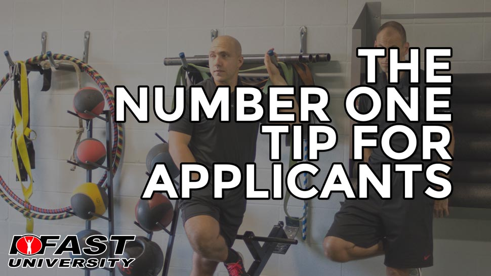 The Number One Tip for Applicants