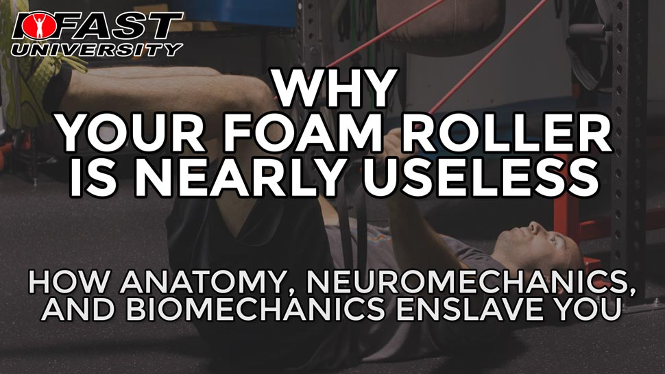 Why Your Foam Roller is Nearly Useless: How anatomy, neuromechanics, and biomechanics enslave you
