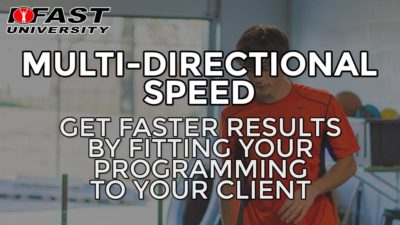 Multi-Directional Speed: Get faster results by fitting your programming to your client