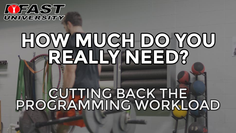 How Much Do You Really Need?: Cutting back the programming workload
