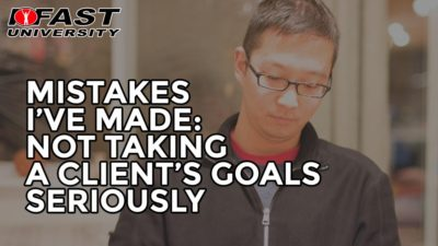 Mistakes I've Made: Not Taking a Client's Goals Seriously