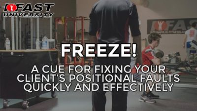 Freeze!: A cue for fixing your client's positional faults quickly and effectively