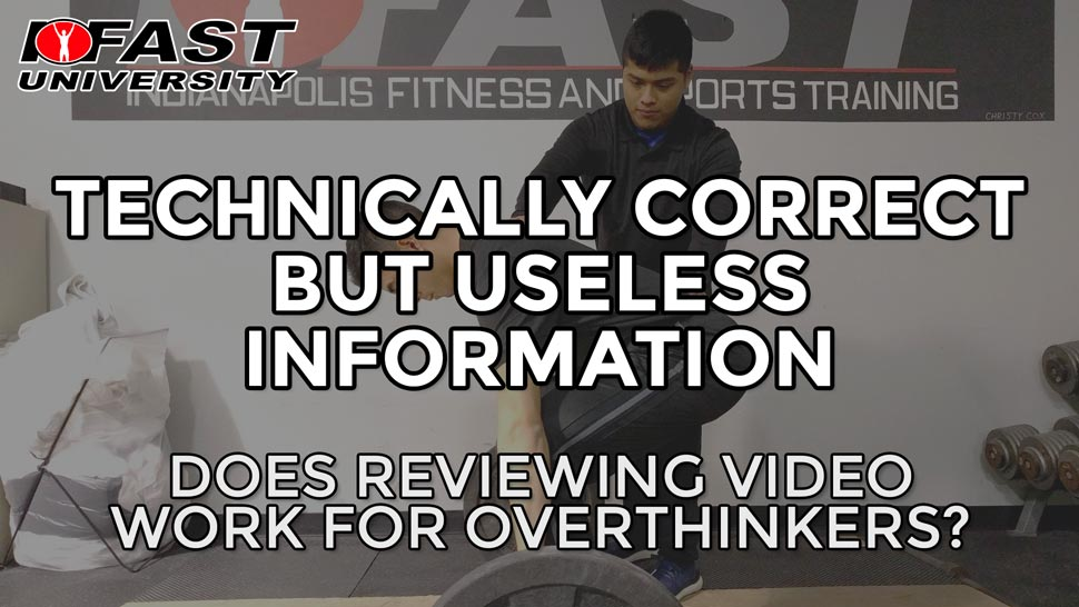 Technically Correct But Useless Information: Does reviewing video work for overthinkers?