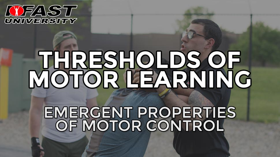 Thresholds of Motor learning: Emergent properties of motor control