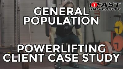General Population Powerlifting Client Case Study