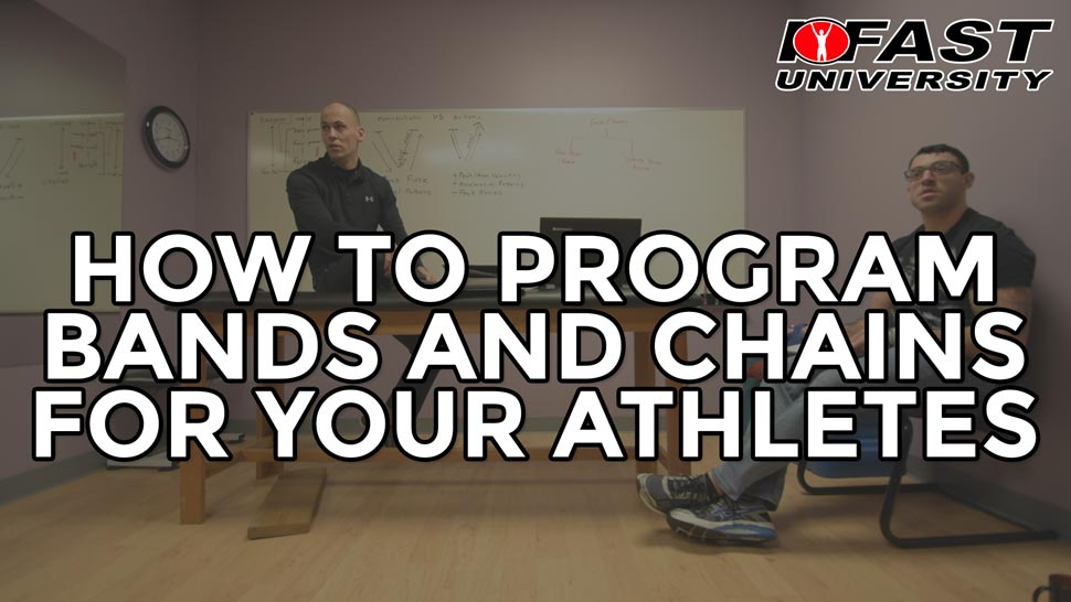 How to Program Bands and Chains for Your Athletes