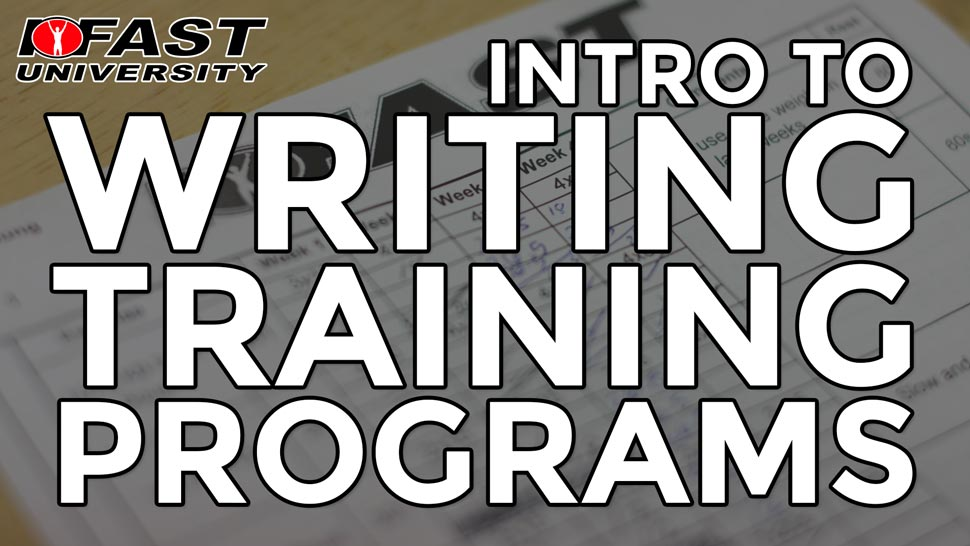 Intro to Writing Training Programs
