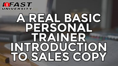 A Real Basic Personal Trainer Introduction to Sales Copy