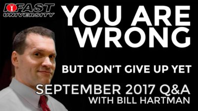 You Are Wrong, but Don't Give Up Yet: September 2017 Q&A with Bill Hartman