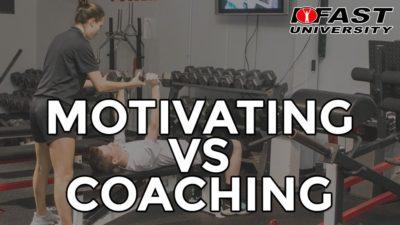 Motivating vs. Coaching