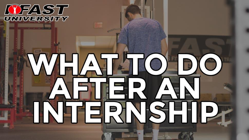 What to Do After an Internship