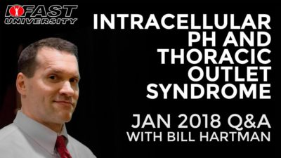 Intracellular pH and Thoracic Outlet Syndrome: January 2018 Q&A with Bill Hartman