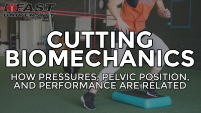 Cutting Biomechanics: How pressures, pelvic position, and performance are related