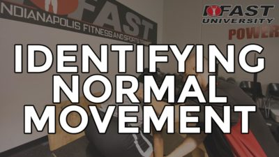 "Identifying ""Normal"" Movement"