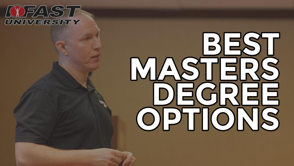 Best Masters Degree Options for fitness professionals looking to get into personal training and sports performance