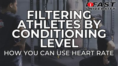 Filtering Athletes By Conditioning Level - How you can use heart rate