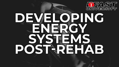 Developing the Energy Systems Post-Rehab - February 2019 Q&A with Bill Hartman
