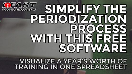 Simplify the Periodization Process with this Free Software