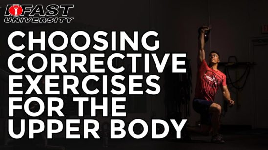 Choosing Corrective Exercises for the Upper Body